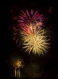 Exposition/Guy Fawkes Night de feux d'artifice Photographie stock libre de droits