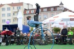 Exposition historique de bicyclette Images libres de droits