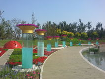 Exposition horticole internationale de la Chine Jinzhou Image stock