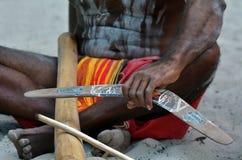 Exposition indigène de culture dans l'Australie du Queensland images libres de droits