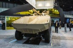 Exposition internationale de la défense en Abu Dhabi Photographie stock libre de droits