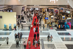Exposition internationale de la défense en Abu Dhabi Photo stock