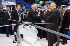 Exposition internationale de la défense en Abu Dhabi Images libres de droits