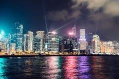 Exposition légère à Hong Kong images stock