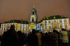 Exposition légère sur l'hôtel de ville à Rennes, France Photos libres de droits