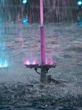 Exposition l?g?re de fontaines de place d'Unirii, Bucarest, Roumanie photo libre de droits