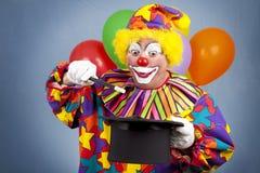 Exposition magique de clown d'anniversaire photographie stock libre de droits