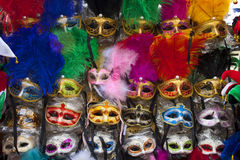 Exposition of masks of venice Royalty Free Stock Images