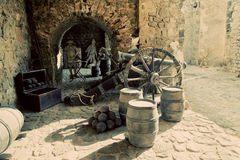 Exposition in the old city of Ibiza, Spain Stock Photo
