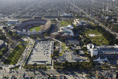 Exposition Park. Aerial view of Exposition Park Los Angeles CA stock image