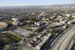 Exposition Park. Aerial view of Exposition Park Los Angeles CA stock photo