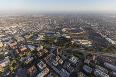 Exposition Park and University of Southern California Aerial Stock Photography