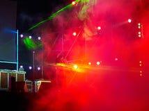 Exposition rouge de laser Images stock
