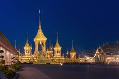 Exposition royale d'incinération du Roi Bhumibol Adulyade de Sa Majesté photos libres de droits