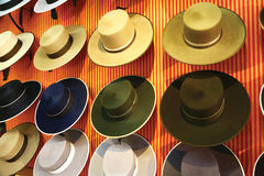 Exposition of spanish sombreros in Seville Royalty Free Stock Photo