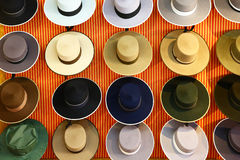 Exposition of spanish sombreros Stock Photo