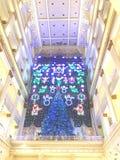 Exposition traditionnelle de lumière de Noël de Macy's photos libres de droits
