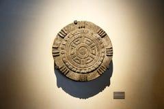 Expositions dans le Musée National de l'anthropologie, Mexico images libres de droits