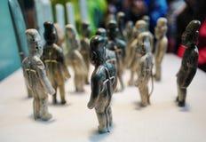 Expositions dans le Musée National de l'anthropologie, Mexico photos libres de droits