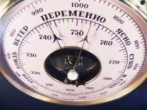 Expositions de baromètre sur le changement de temps Photo libre de droits