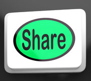 Expositions de bouton de part partageant la page Web ou la photo Photos stock
