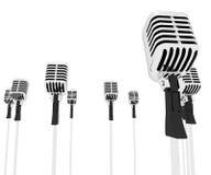 Expositions Mic Music Performance des paroles de microphones Photo libre de droits