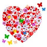 Expositions Valentine Day And Animals de papillons de coeurs Image libre de droits