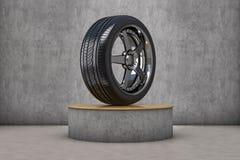 Expositor do pneu Fotografia de Stock