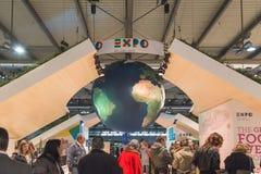 Expoställning på biten 2015, internationellt turismutbyte i Milan, Italien Arkivbild