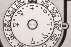 Exposure compensation dial on camera royalty free stock photo