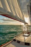 Sailing in the Keys Waiting for Sunset stock photo