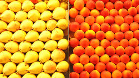 Exposure of fruit in a market, Stock Images