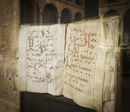 Exposure of a medieval codex royalty free stock images