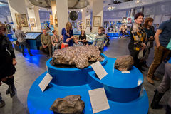 Exposure meteorite in Urania museum of Moscow Planetarium, Russia Royalty Free Stock Photo