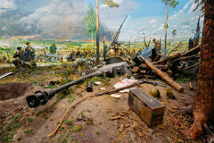 Exposure Of Weapons And Equipment In The Belarusian Museum Of Th Royalty Free Stock Image