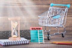 Exprès livrez, concept en ligne de magasin, de démarrage et de logistique photo libre de droits