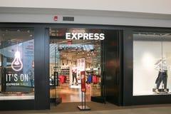 Exprese el frente de la tienda imagen de archivo