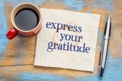 Exprese su gratitud imágenes de archivo libres de regalías
