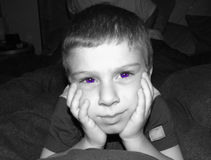 Expresión 4 de Childs Foto de archivo