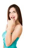 Expresión atractiva de la mujer imagen de archivo