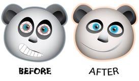 Expresión de la cara de las pandas Stock de ilustración
