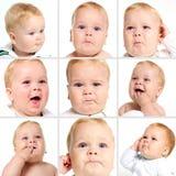Expresión de la cara del bebé Fotografía de archivo