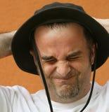 Expresión de la cara/tensión horrible Foto de archivo