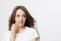 Expresión de una chica joven real Imágenes de archivo libres de regalías