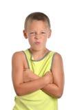Expresión del muchacho Foto de archivo libre de regalías