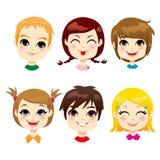 Expresión facial de los niños ilustración del vector