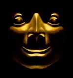 Expresión feliz de la escultura de oro de la cara ilustración del vector