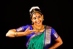 Expresión india tradicional de la danza Imagen de archivo libre de regalías