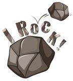 Expresión inglesa de la roca en blanco Imagen de archivo