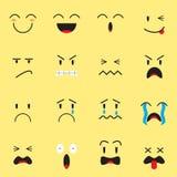 Expresión linda Emoji en fondo amarillo Fotos de archivo libres de regalías